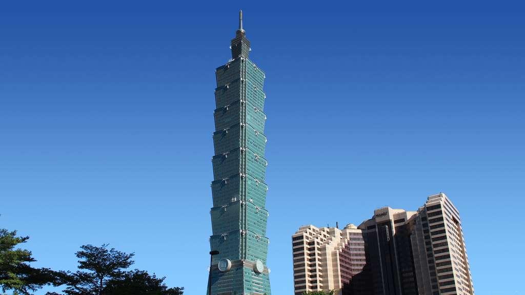 Taipei 101, le majestueux bambou bleu turquoise