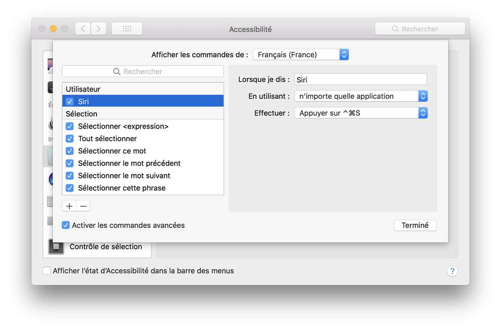 Configurer Siri par la voix sur Mac. © Futura