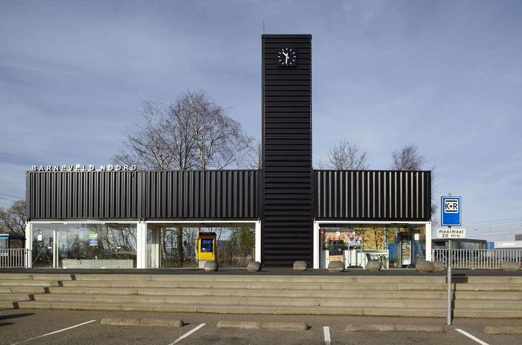 La gare de Barneveld Noord aux Pays-Bas. © NL Architects