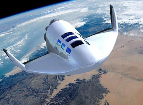 Le Véhicule suborbital habité pourrait accueillir six passagers. © Dassault Aviation, Mourad Cherfi