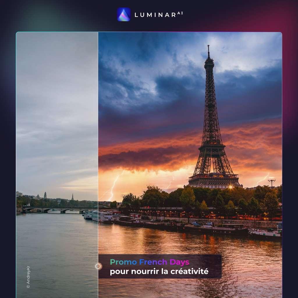 Avec le logiciel d'édition Luminar AI, boosté à l'intelligence artificielle, retoucher une photo est très facile ! © Luminar