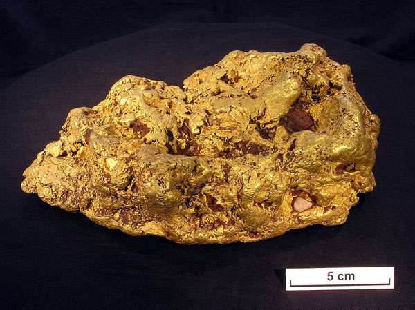 Pépite d'or. © CSIRO, CC, Wikimedia commons,Attribution 3.0 Unported