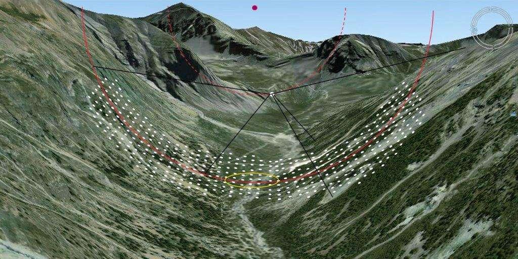 L'hypertélescope est un projet expérimental, installé dans les Alpes de Haute Provence. © hypertelescope.org