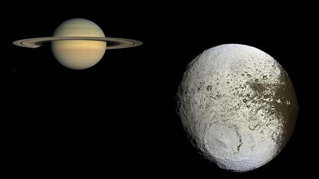 Saturne et sa lune Japet