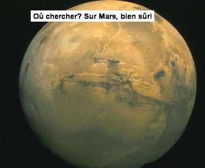 La recherche de traces passées d'eau liquide sur Mars a été un objectif important. © DR