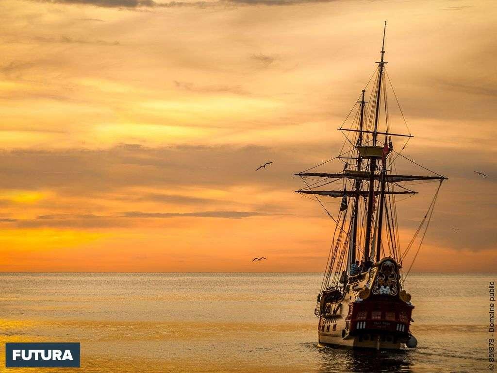 Balade au coucher du soleil à bord d'un vieux galion
