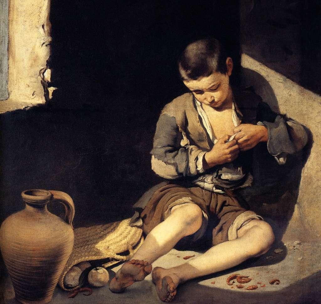 « Le jeune mendiant » par Bartolomé Esteban Murillo, peint entre 1645 et 1650. Musée du Louvre, Paris. © RMN-Grand Palais (musée du Louvre), Angèle Dequier