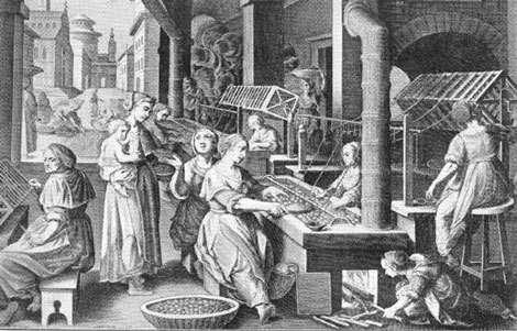 Fabrication de la soie. © DR