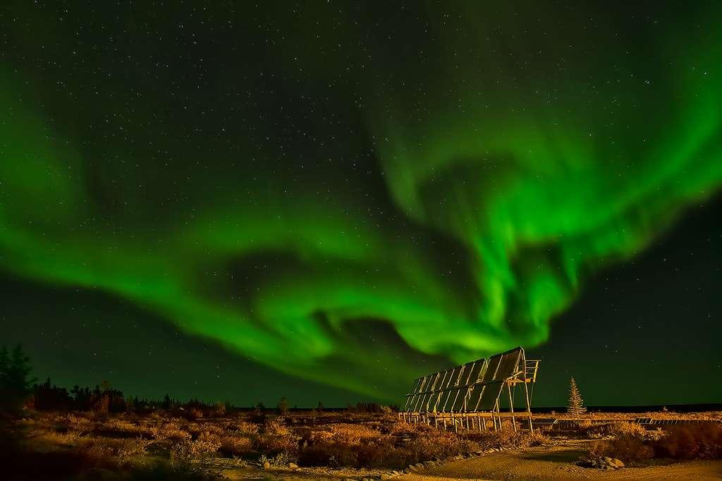 Aurore boréale au Nunavut