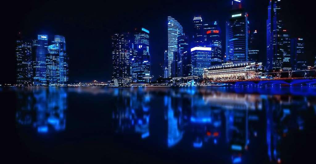Vue sur les tours de Singapour. © Walkerssk, Pixabay, DP