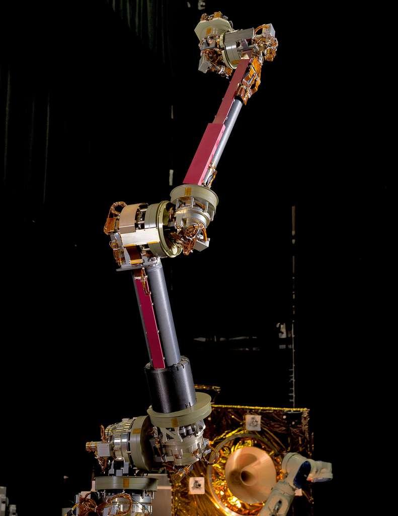 Un des deux bras robotiques de la mission Restore L. Il a été conçu au centre spatial Goddard, de la Nasa. © Nasa