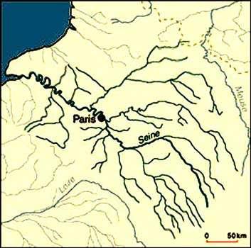 Bassin de Paris, réseau hydrographique