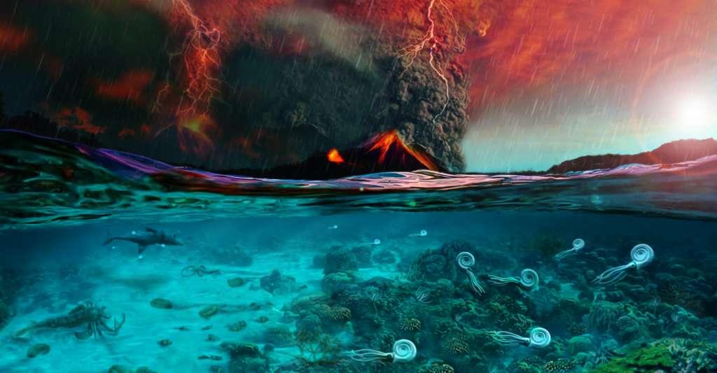 L'émission massive de CO2 volcanique serait à l'origine de la crise biologique du Permien. © PaleoFactory, Sapienza Université de Rome