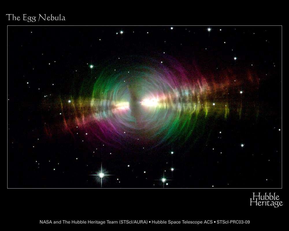Hubble : Nébuleuse de l'oeuf