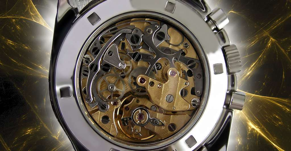 Mécanisme de montre à quartz. © MadGeographer - CC BY-SA 3.0