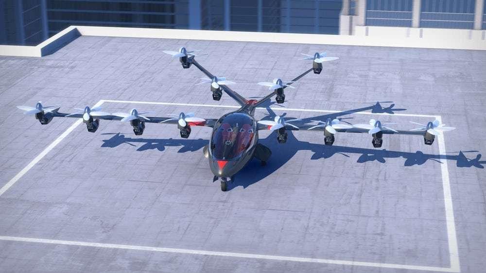 Le drone taxi à décollage et atterrissage verticaux Joby. © Joby Aviation