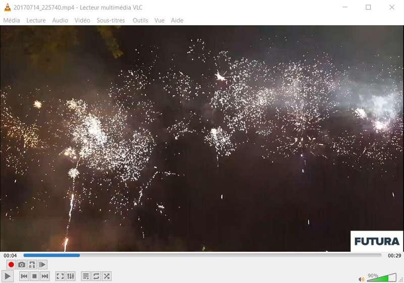 Le logo de Futura a été correctement intégré à la vidéo. © VideoLAN Organization