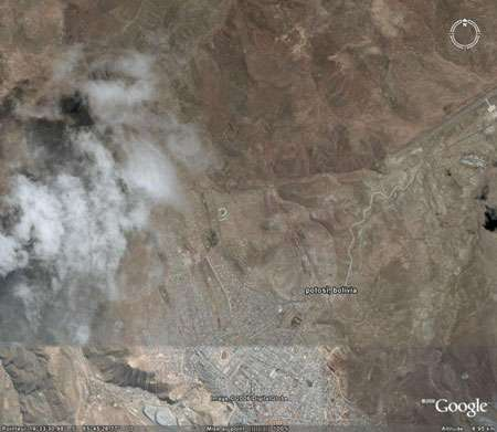 Potosí, Bolivie. © Google earth