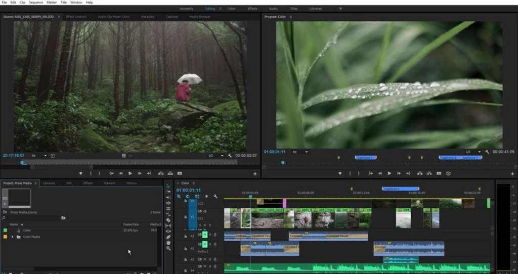 Adobe Premiere Pro CC intègre de manière intelligente les workflows. © Adobe