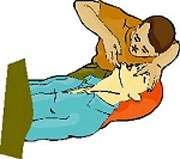 Bien maintenir le menton de la victime vers le haut. © Croix-Rouge française, G. Pascaud