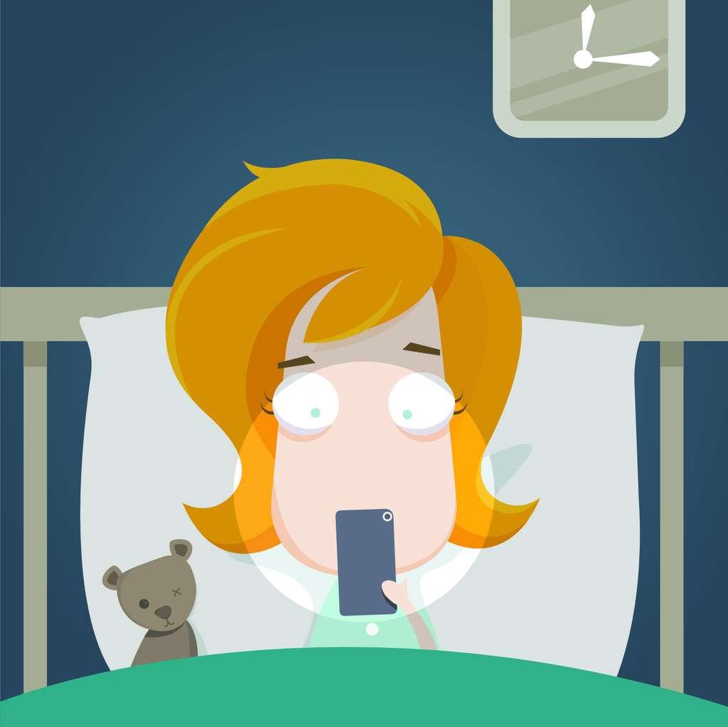 Téléphone portable : une plaie pour le sommeil. © baloothebear, Adobe Stock