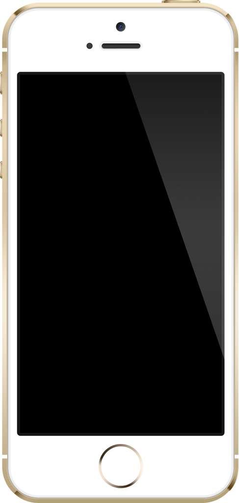 L'iPhone 5S, fleuron des smartphones d'Apple, possède un écran plat de 4 pouces de diagonale. Les modèles suivants pourraient bien être plus grands et incurvés… © Zach Vega, Wikimedia Commons, cc by sa 3.0