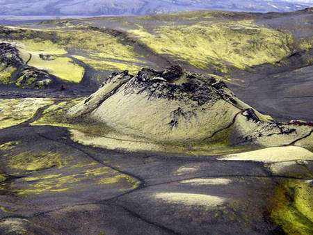 Le Laki est aussi appelé Lakagigar en islandais. © Juhász Péter, Wikipédia