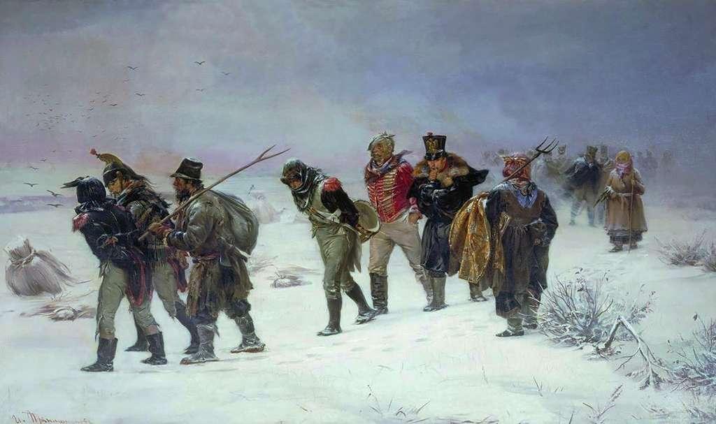 Retraite de Russie en 1812. © Michailowitsch Prjanischnikow, Wikimedia commons, DP
