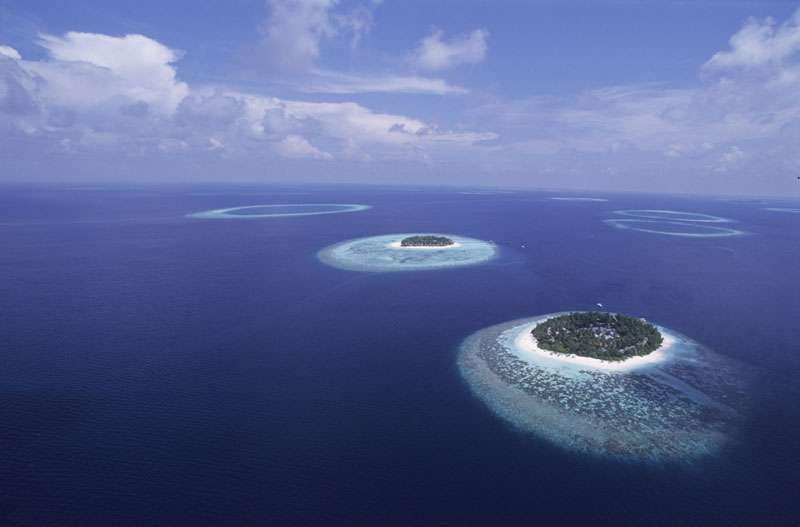 Atoll des Maldives. © Alexis Rosenfeld, reproduction interdite