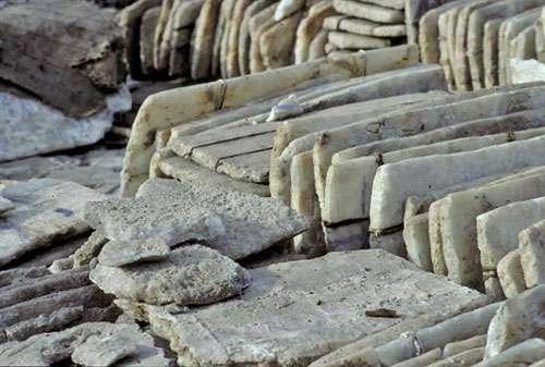 Taoudeni, plaques de sel