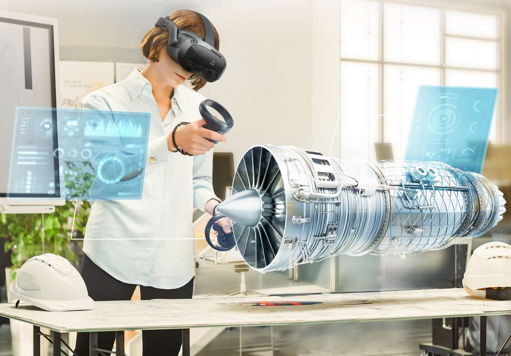 Le Vive Focus 3, un casque autonome pour les entreprises. © HTC