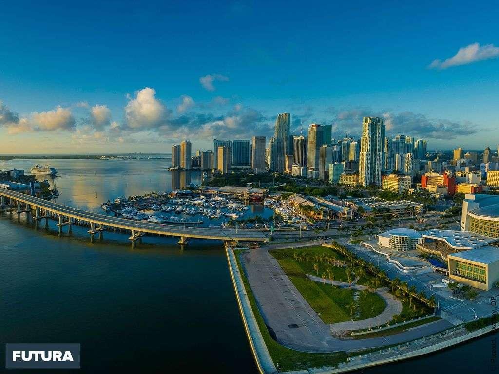 Vue panoramique de Miami, Floride