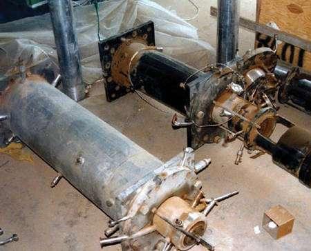 Des centrifugeuses « sensibles » employées pour concentrer l'uranium 235. © France diplomatie