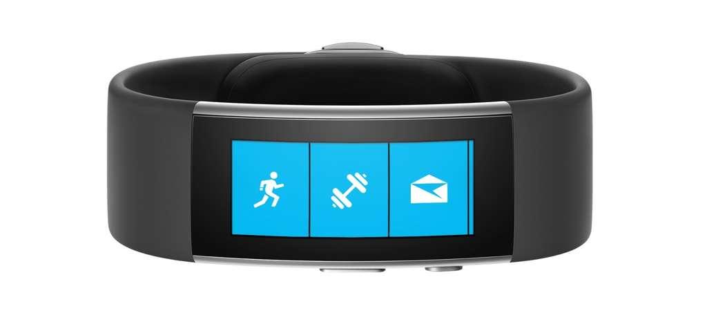 Le nouveau Microsoft Band embarque 11 capteurs pour suivre le sommeil, l'activité physique et de nombreuses données liées à la santé. © Microsoft