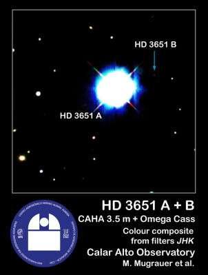 HD 3651 A et sa naine brune.