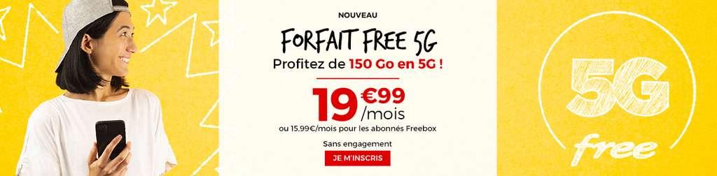 Forfait 5G à prix cassé © Free Mobile