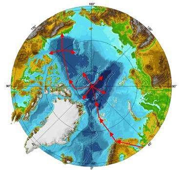 Le dirigeable quittera le continent à Tromsø, au nord de la Norvège puis partira vers le Sptizberg. L'équipe séjournera au niveau du Pôle et effectuera plusieurs radiales avant de partir vers l'ouest et survoler le Pôle nord magnétique. Le voyage se terminera en Alaska. © JL Etienne
