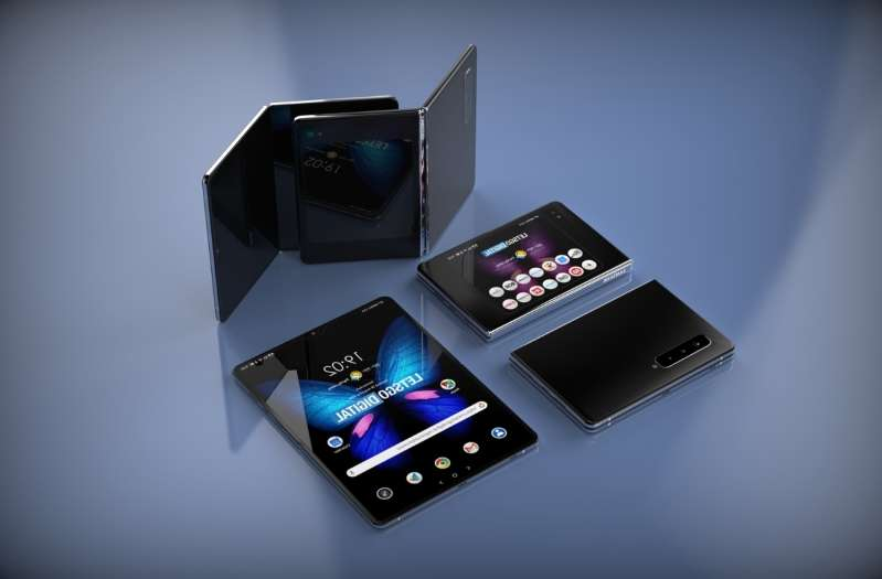 Trois modèles en préparation pour Samsung avec un écran pliable verticalement ou horizontalement. © LetsGoDigital