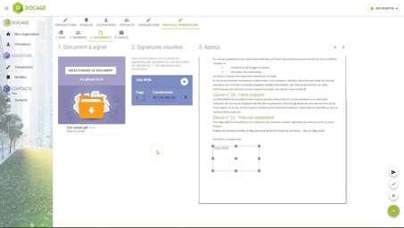 Une interface intuitive pour tous les types d'utilisateurs. © Docage