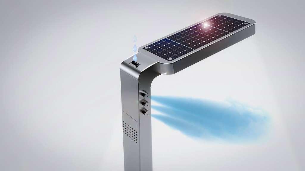 Showair, le lampadaire purificateur d'air créé par la startup Tohar.