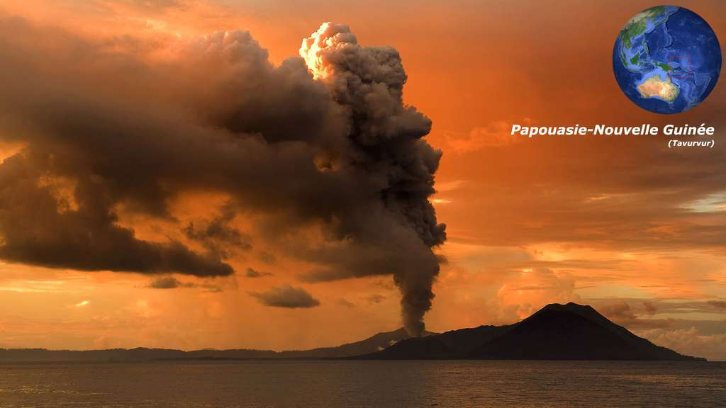 Le Mont Tavurvur, en Papouasie-Nouvelle-Guinée