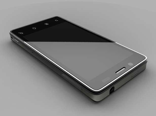 Animé par Android Gingerhead 2.3, le prototype de téléphone, qui propose également un design de référence, ressemble étrangement au dernier iPhone. © Technology Review
