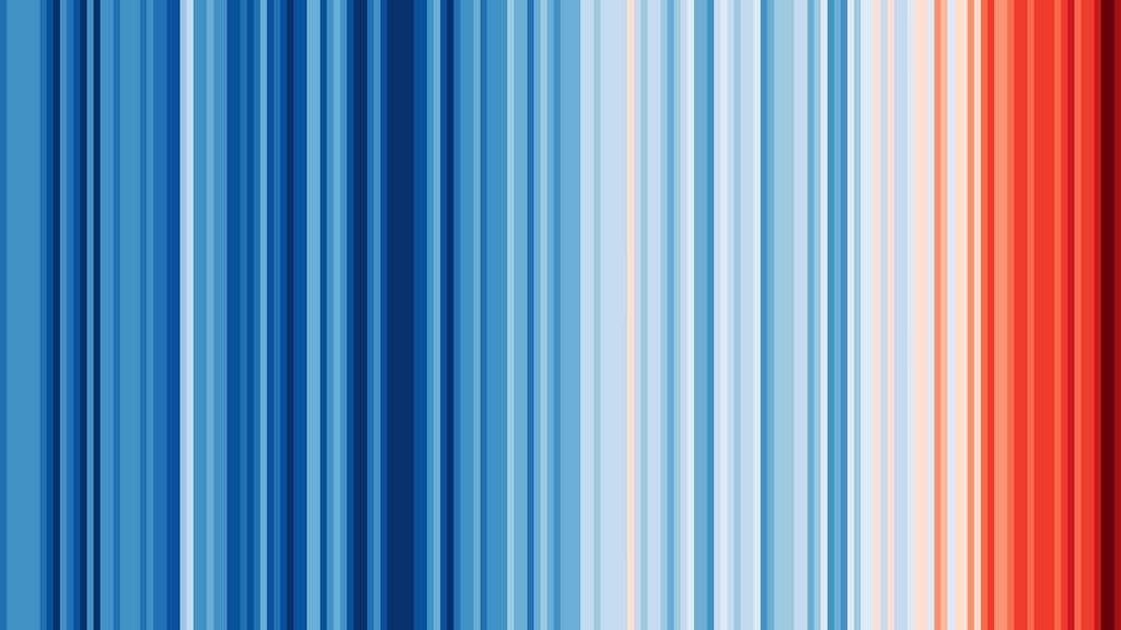 L'évolution de la température moyenne dans le monde entre 1850 et 2017. © Ed Hawkins, Université de Reading