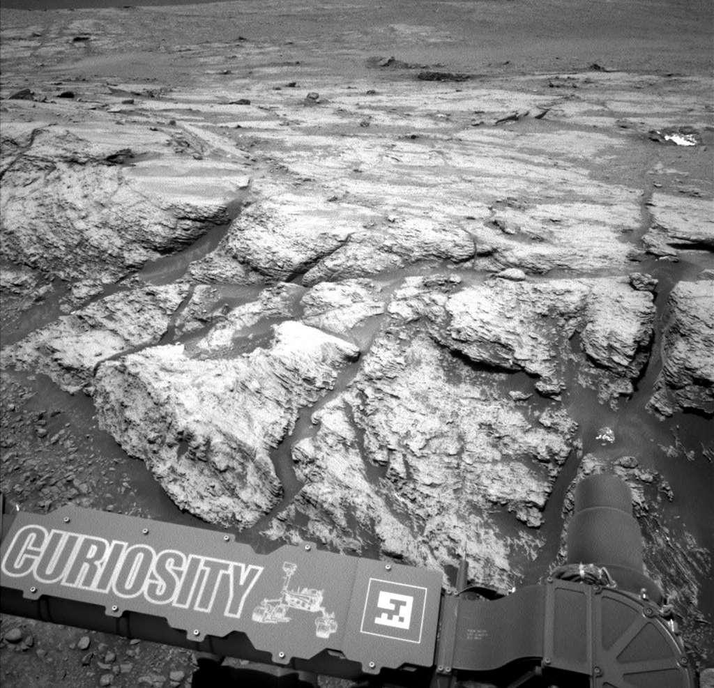 Cette image a été prise par le rover Curiosity de la Nasa, le 18 juin 2019, le 2440e jour martien de la mission. © Nasa/JPL-Caltech