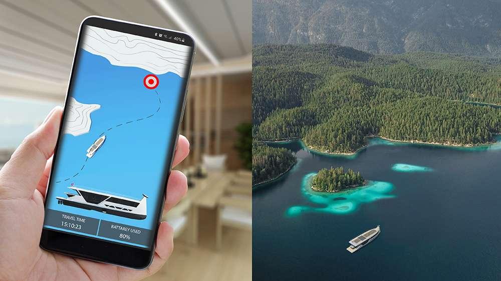 Une application mobile suffirait pour naviguer à bord de ce bateau électrique et autonome. © Max Zhivov