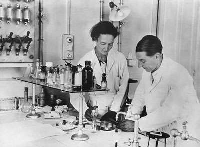 Irène et Frédéric Joliot-Curie