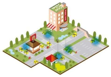 Mistubishi voit des chargeurs publics répartis partout où les voitures se garent... © Mitsubishi Motors North America