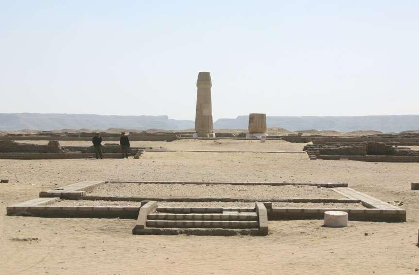 Les ruines du temple d'Aton dans la capitale déchue d'Akhenaton. © DR