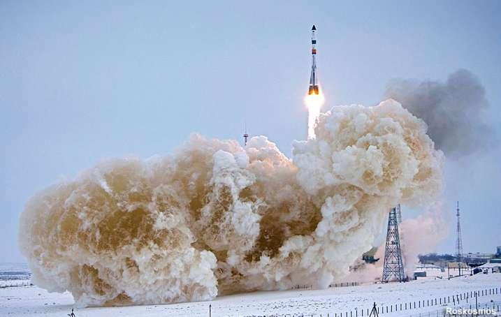 Décollage du cargo Progress MS-08 à destination de la Station spatiale internationale. © Roscosmos