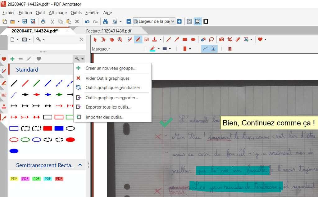 Exporter des outils graphiques © GRAHL software design